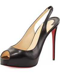 Christian Louboutin Private Number Slingback Red Sole Pump - Lyst