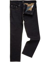 Hugo Boss Maine Regular Straight Dark Rinse Jean - Lyst