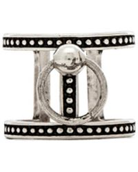Luv Aj Ring Of Fire Tbar Ring - Lyst