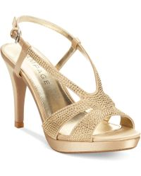 Rampage Vaylor Platform Evening Sandals - Lyst