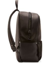 CALVIN KLEIN 205W39NYC - Black Leather Oversized Zip Backpack - Lyst