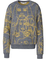Stella McCartney Line Drawn Faces Jumper - Lyst