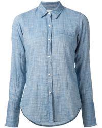 Nili Lotan Blue Basic Shirt - Lyst