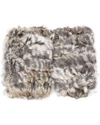 Jocelyn - Fur Knitted Mittens - Lyst