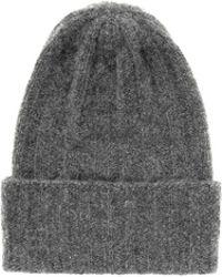 The Elder Statesman 'Short Bunny Echo' Rib Knit Cashmere Beanie - Lyst