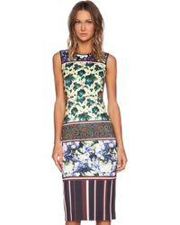 Clover Canyon Floral Collage Dress - Lyst