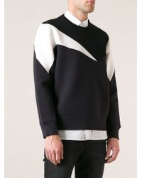 Neil Barrett Panelled Sweatshirt - Lyst