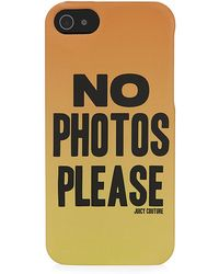 Juicy Couture - No Photos Please Iphone 5 Case - Lyst