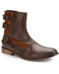 Ben Sherman Remy Leather Moto Boots - Lyst
