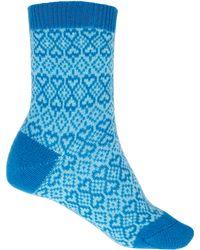 Pantherella | Blue Heart Cashmere-blend Socks | Lyst