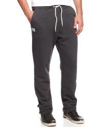 Wesc Thurman Solid Drawstring Fleece Pants - Lyst