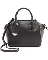 Rebecca Minkoff Mini Perry Satchel - Black - Lyst