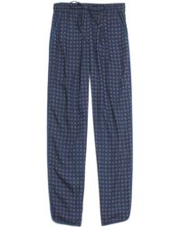 Madewell Piped Drawstring Pants in Tile Medallion - Lyst