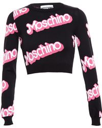 Moschino Barbie Cropped Jumper - Lyst