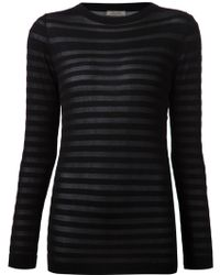 Nina Ricci Stripes Sheer Blouse - Lyst