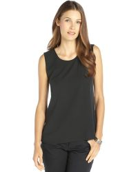 Theyskens' Theory Dark Grey Stretch Silk Sleeveless Blouse - Lyst