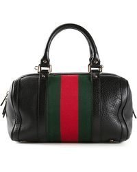 Gucci Vintage Web 'Boston' Bag - Lyst