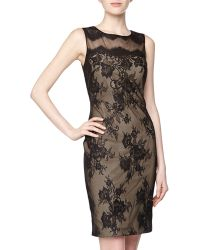 Notte By Marchesa Floral Mesh Lace Cocktail Dress Black - Lyst