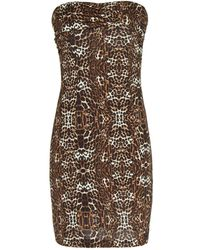 Mango Leopard Bodycon Dress - Lyst