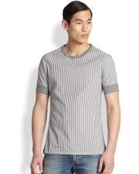 Dolce & Gabbana Striped Cotton Tee - Lyst