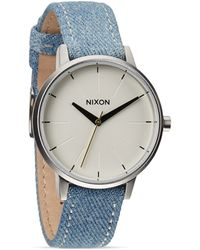 Nixon The Kensington Denim Strap Watch 37mm - Lyst