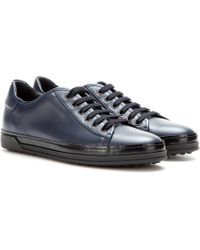 Tod's Leather Sneakers - Lyst
