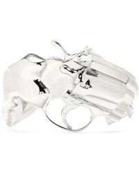 Saint Laurent Cuff Bracelet - Lyst