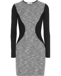 Kain Didion Tweed and Ribbed Jersey Mini Dress - Lyst