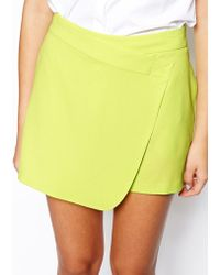 Asos Skort in Textured Crepe - Lyst