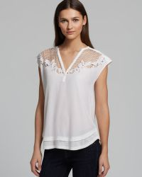 Rebecca Minkoff Top Amaral Embroidered - Lyst