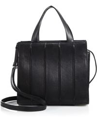 Max Mara Whitney Small Leather Tote black - Lyst