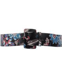 Prada Cinture Leather Belt in Gray (GREY) | Lyst