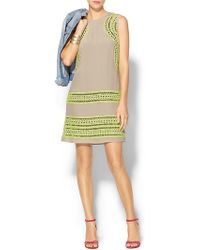 Shoshanna Geo Cutout Embroidered Brenda Dress - Lyst
