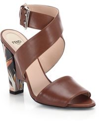Fendi | Beyond Bird Of Paradise Leather Sandals | Lyst