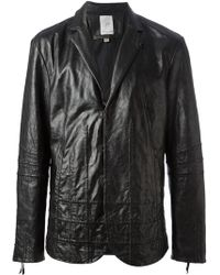 John Varvatos Raised Check Blazer - Lyst
