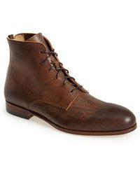 Alexander McQueen Men'S Leather Boot - Lyst
