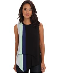 BCBGMAXAZRIA Brea Color Blocked with Hip Drape Top - Lyst