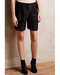 Greylin Cuffed Tweed Shorts - Lyst
