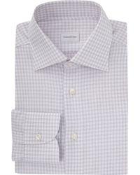 Ermenegildo Zegna Graph-Check Dress Shirt - Lyst