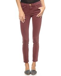 Current/Elliott The Stiletto Jeans Vintage Burgundy - Lyst