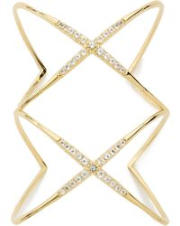 Elizabeth and James - Vida Cuff Bracelet Yellow Gold - Lyst