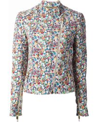 Versace Liberty Flower Printed Jacket - Lyst