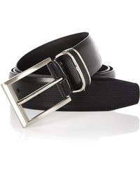 River Island Black Embossed Belt - Lyst