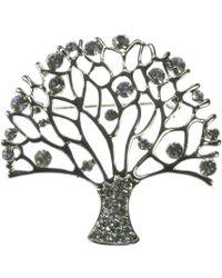Indulgence Jewellery - Crystal Tree Of Life Brooch - Lyst