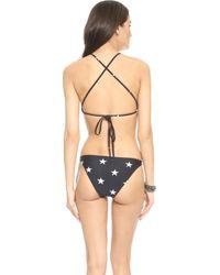Zoe Karssen - Stars Halter Bikini - Pirate Black - Lyst