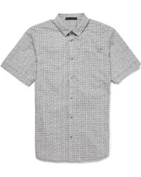 Alexander Wang Printed Shortsleeved Cotton Shirt - Lyst