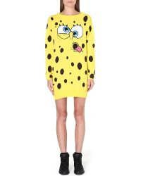 Moschino Spongebob Dress Yellow - Lyst