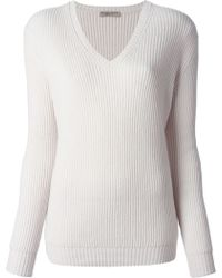 Bottega Veneta Ribbed Knit Sweater - Lyst
