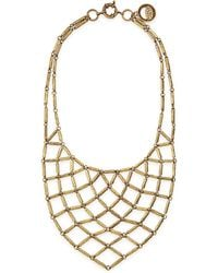Giles & Brother Hammered Brass Bib Necklace - Lyst