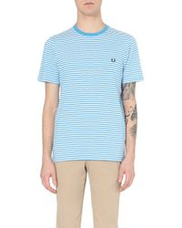 Fred Perry Striped Cotton-Jersey T-Shirt - For Men - Lyst
